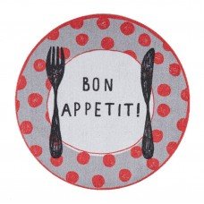 okrugli tepih cook & wash red dots bon appetit